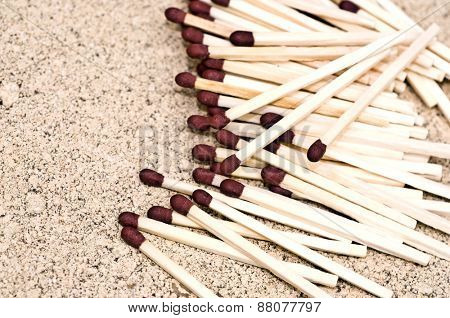 Matches close up