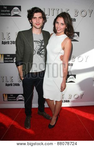 LOS ANGELES - FEB 14:  Carter Jenkins, Sidney Allison at the