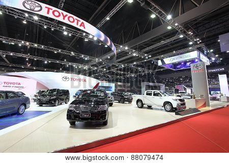 Bangkok - March 25: Showroom Of Toyota Car  At The 36 Th Bangkok International Motor Show On March 2