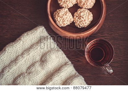 Teacup and rice crispy balls