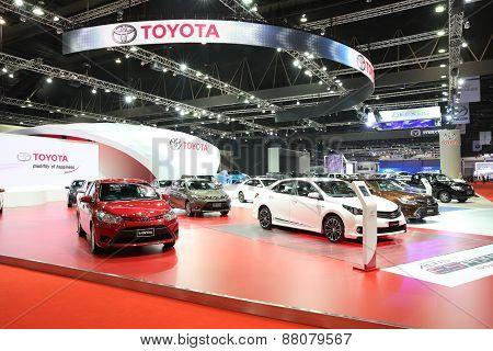 Bangkok - March 25: Showroom Of Toyota Car  At The 36 Th Bangkok International Motor Show On March 2