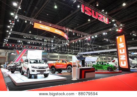 Bangkok - March 25: Showroom Of Isuzu Car  At The 36 Th Bangkok International Motor Show On March 25