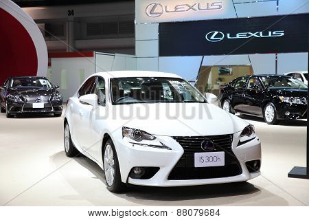 Bangkok - March 25: Lexus Is 300H Car On Display At The 36 Th Bangkok International Motor Show On Ma