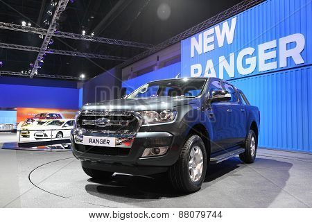 Bangkok - March 25: Ford Ranger Car On Display At The 36 Th Bangkok International Motor Show On Marc