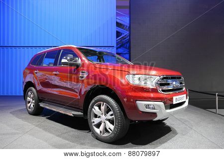 Bangkok - March 25: Ford Everest Car On Display At The 36 Th Bangkok International Motor Show On Mar