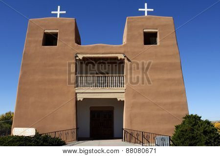 Sacred Heart Church In Nambe, New Mexico