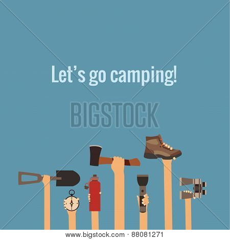 Camping concept