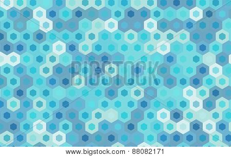 Blue Hexagon Vector Background Design.geometric Background.