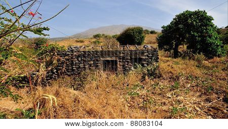 Abandoned Stone Home Begins To Fall Apart