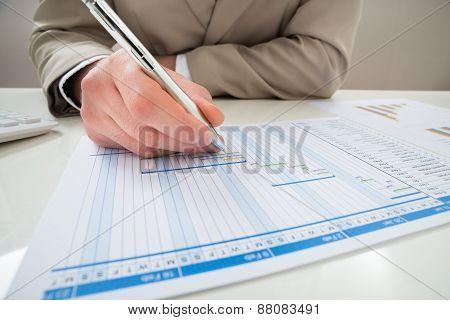 Businessman Making Gantt Diagram