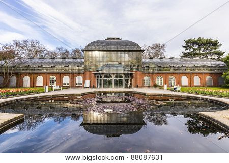 Entrance Building Of The  Palmengarten In Frankfurt, Germany