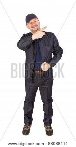 Worker in workwear