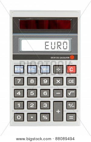 Old Calculator - Euro