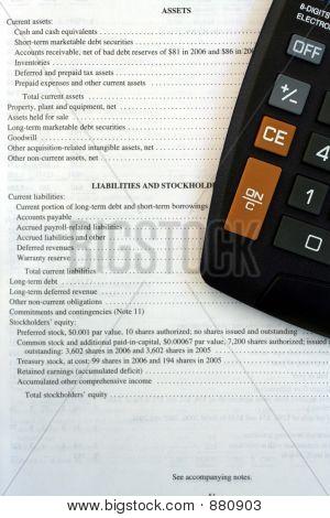 Corporate Balance Sheet & Calculator