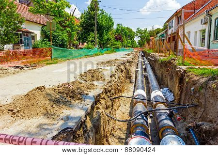New Pipeline In The Process Of Building