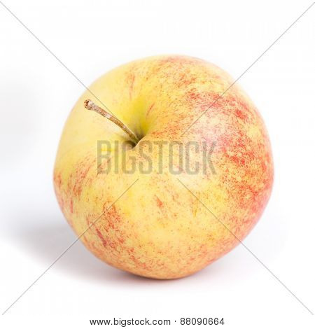 Red yellow apple isolated on white background