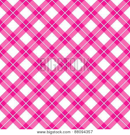Pink Gingham Seamless Pattern