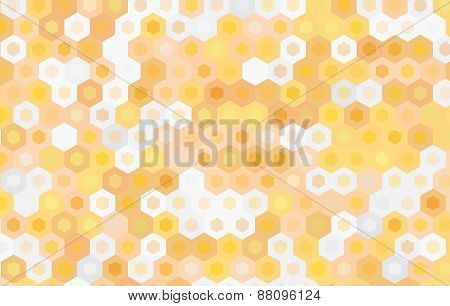 Yellow Hexagon Background.vector Geometric Pattern Design.
