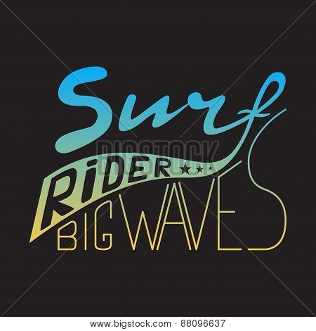 Stamp Of Surf Rider For Typography
