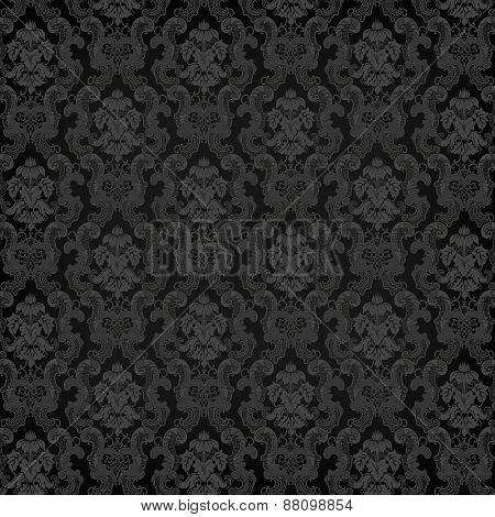 Vector floral damask pattern for wedding invitation