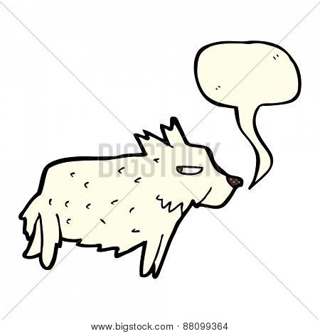 cartoon terrier with speech bubble
