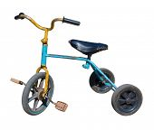 picture of tricycle  - old vintage tricycle children bicycle - JPG
