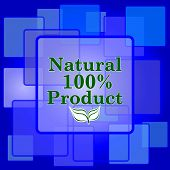 picture of 100 percent  - 100 percent natural product icon - JPG