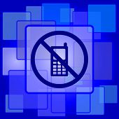 stock photo of restriction  - Mobile phone restricted icon - JPG