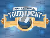 pic of volleyball  - An illustration for a volleyball tournament flyer or poster - JPG