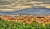image of apennines  - View of Florence and Apennine Mountains in Italy - JPG