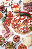picture of antipasto  - Tapas or antipasto food - JPG
