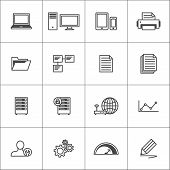pic of speedo  - Line icons for visualization work processes or devices - JPG