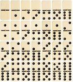 stock photo of spinner  - Big size full set of domino tiles isolated on white background - JPG
