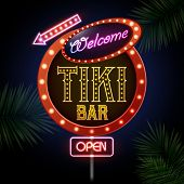 stock photo of tiki  - Neon Sign - JPG