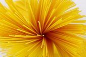 pic of bundle  - detail of spaghetti bundle on white background - JPG