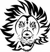 foto of lions-head  - Head Lion Vector Logo Lineart Black  - JPG