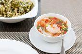 foto of glory  - A Photo green tea Glory with shrimp Salad - JPG