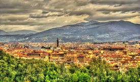 picture of apennines  - View of Florence and Apennine Mountains in Italy - JPG