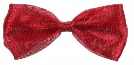 picture of bow tie hair  - Maroon red hair bow tie - JPG