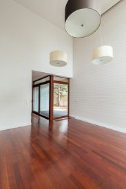 picture of enormous  - Empty big main room in enormous modern residence  - JPG