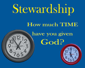 stock photo of stewardship  - clocks on background with time stewardship message - JPG