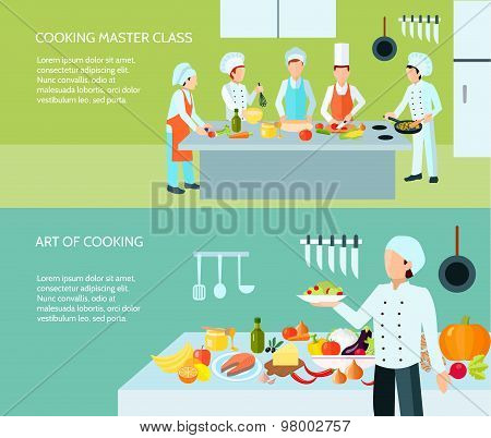 Cooking Art Banner Set