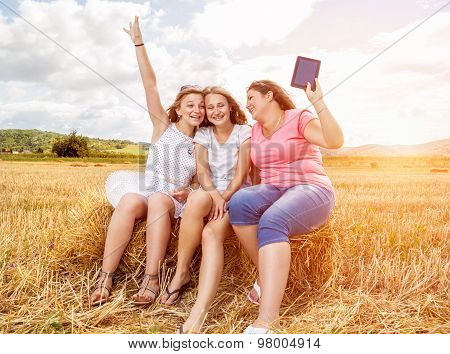 Group Of Friends Having A Good Time Outdoors