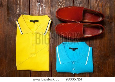 Casual Bright Man's Collection Of Clothes