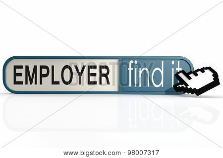 Employer Word On The Blue Find It Banner