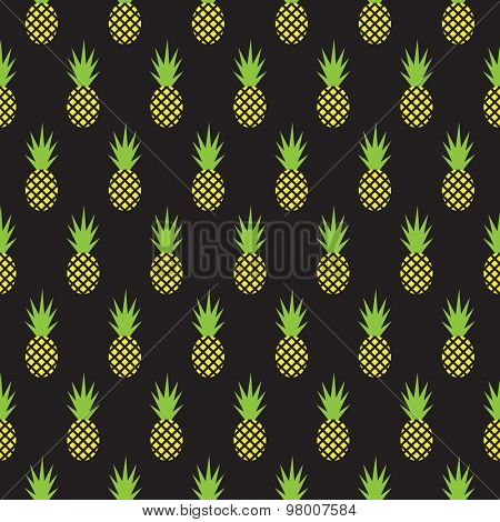 Seamless pineapple pattern, background