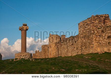 Ruins Of The Fortress Of Methoni, Peloponnese, Greece