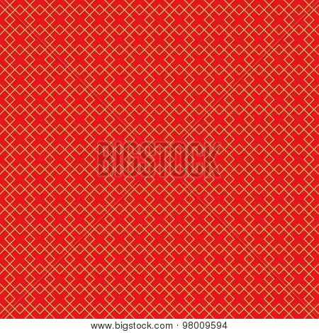 Golden seamless vintage Chinese window tracery square line pattern background.