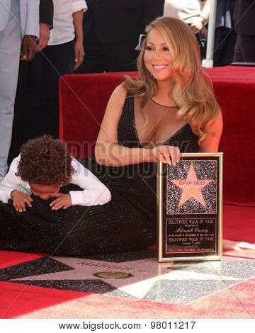 , LOS ANGELES - AUG 5:  Mariah Carey, Moroccan Cannon at the Mariah Carey Hollywood Walk of Fame Ceremony at the W Hollywood on August 5, 2015 in Los Angeles, CA