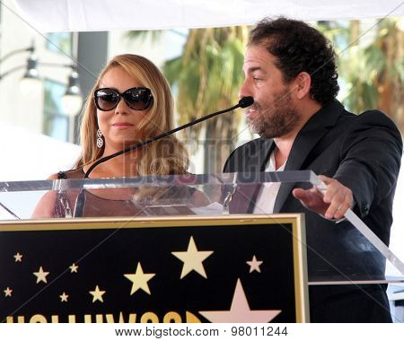 , LOS ANGELES - AUG 5:  Mariah Carey, Brett Ratner at the Mariah Carey Hollywood Walk of Fame Ceremony at the W Hollywood on August 5, 2015 in Los Angeles, CA